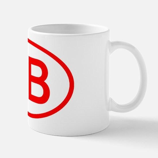 DB Oval (Red) Mug