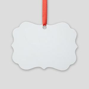 Calico Jack White Picture Ornament