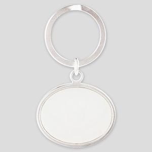 Calico Jack White Oval Keychain