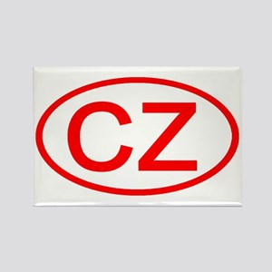 CZ Oval (Red) Rectangle Magnet