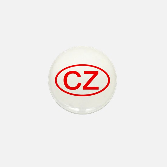 CZ Oval (Red) Mini Button