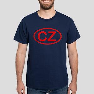 CZ Oval (Red) Dark T-Shirt