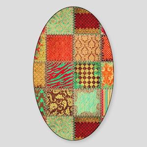 Quilt Sticker (Oval)