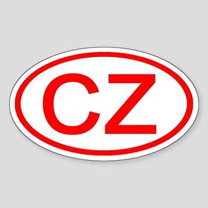 CZ Oval (Red) Oval Sticker
