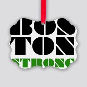 Bos-Ton Strong - Black  Green Picture Ornament