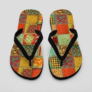 Quilt Flip Flops