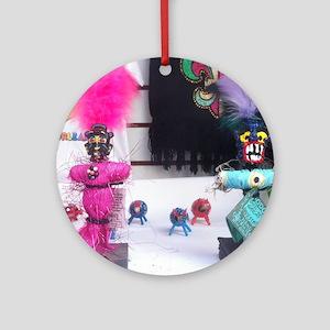Voodoo Dolls Round Ornament
