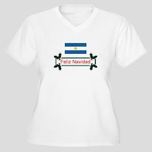 Argentina Feliz.. Women's Plus Size V-Neck T-Shirt