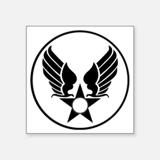 "USAAF SHIELD 1 Square Sticker 3"" x 3"""
