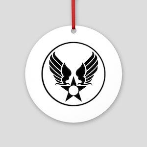 USAAF SHIELD 1 Round Ornament