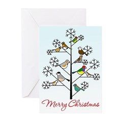 Finch Christmas Cards (Pk Of 20)