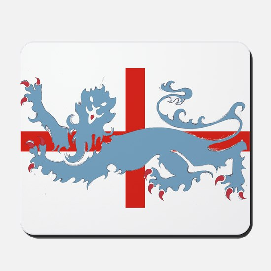 uk cross with lion Mousepad