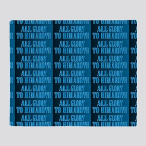 All Glory Blue Womens All=Over Print Throw Blanket