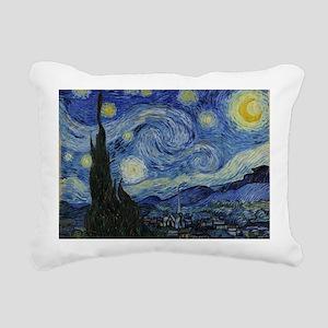 Vincent Van Gogh Starry  Rectangular Canvas Pillow