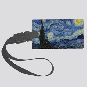 Vincent Van Gogh Starry Night Large Luggage Tag