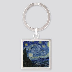 Vincent Van Gogh Starry Night Square Keychain