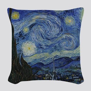 Vincent Van Gogh Starry Night Woven Throw Pillow