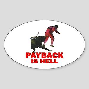 Payback Oval Sticker