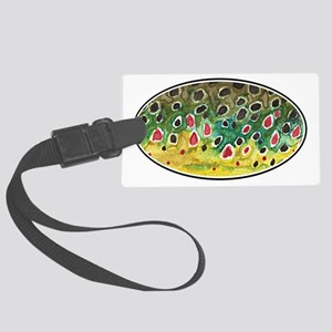 Brown Trout Fishing Large Luggage Tag