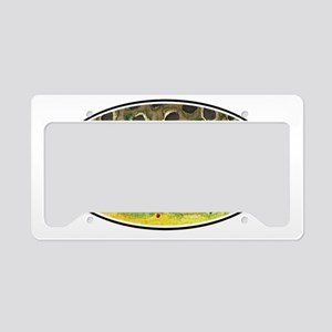 Brown Trout Fishing License Plate Holder