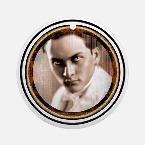 Manly P. Hall Tee  Round Ornament