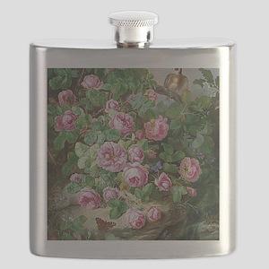 Josef Lauer Roses Flask