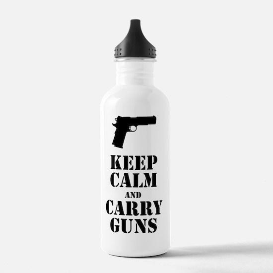 keepcalmGuns Water Bottle