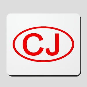 CJ Oval (Red) Mousepad