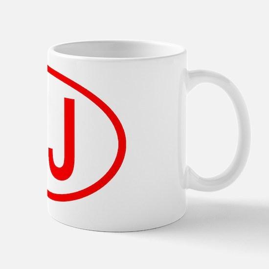 CJ Oval (Red) Mug