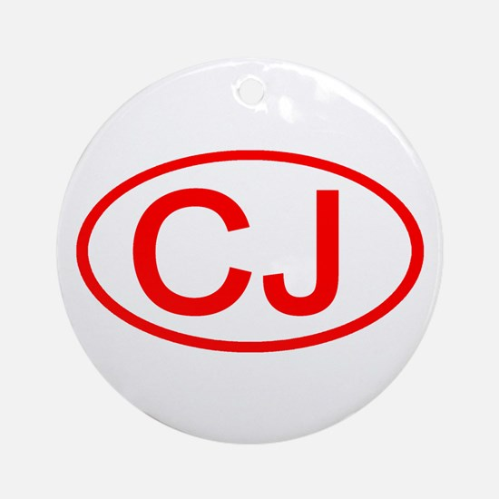 CJ Oval (Red) Ornament (Round)