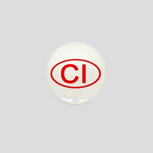 CI Oval (Red) Mini Button