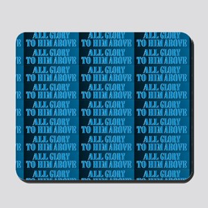 All Glory Blue Mens All-Over Printed Shi Mousepad