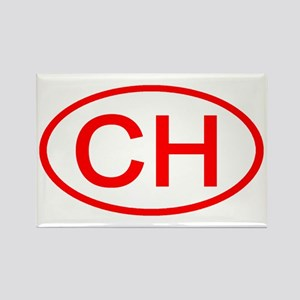 CH Oval (Red) Rectangle Magnet