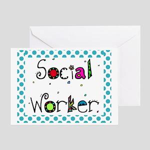 social worker POLKA DOTS Greeting Card