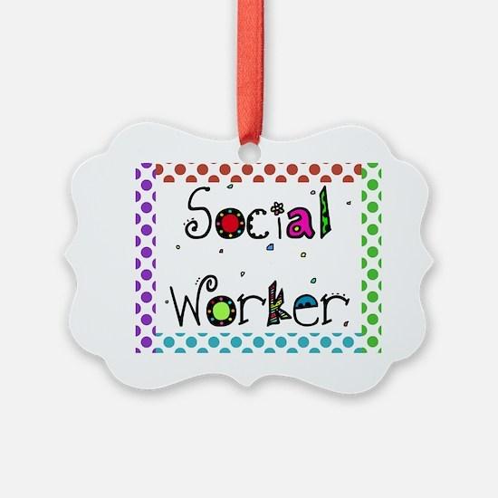 social worker polka dots 2 Ornament