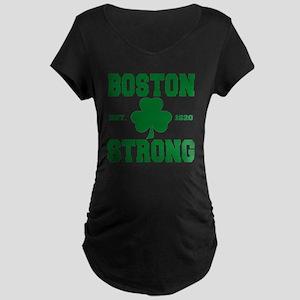 boston strong b Maternity Dark T-Shirt