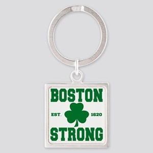 boston strong b Square Keychain