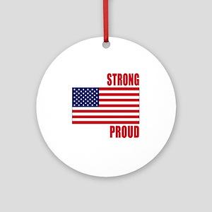 boston strong(blk) Round Ornament
