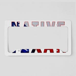 Native Texan Flag License Plate Holder