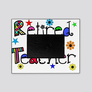 retired teacher stars flowers Picture Frame