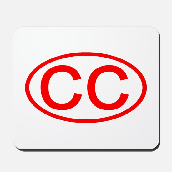 CC Oval (Red) Mousepad