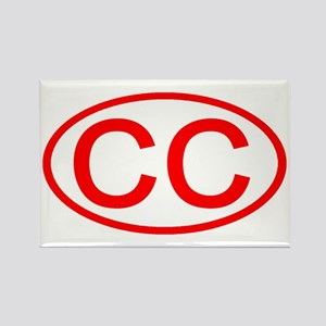CC Oval (Red) Rectangle Magnet
