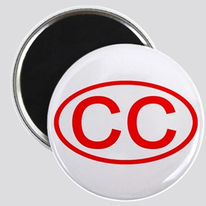 CC Oval (Red) Magnet