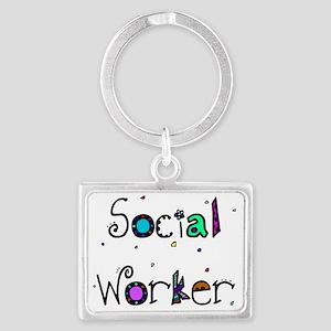 social worker PILLOW 2 Landscape Keychain