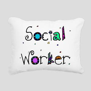 social worker PILLOW 2 Rectangular Canvas Pillow