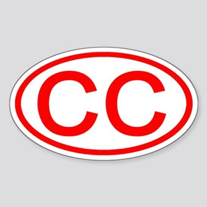 CC Oval (Red) Oval Sticker