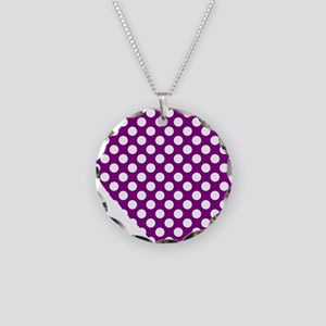 Fibro Awareness Heart Necklace Circle Charm