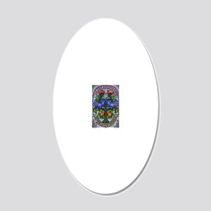 1996 Austria Birds Mosaic Po 20x12 Oval Wall Decal