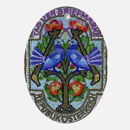 1996 Austria Birds Mosaic Postage St Oval Ornament
