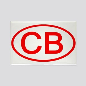CB Oval (Red) Rectangle Magnet